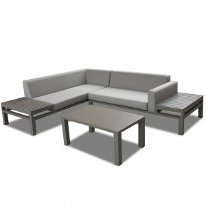 Project Custom Aluminum Frame Outdoor Corner Sofa Sets