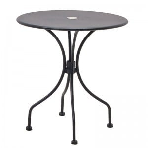 High Quality Black Iron Frame Outdoor Patio Table