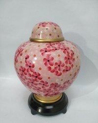 New Design Flower Pink Cloisonne Cremation Urn