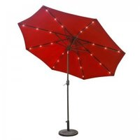 Promotional outdoor patio center column umbrella with led light