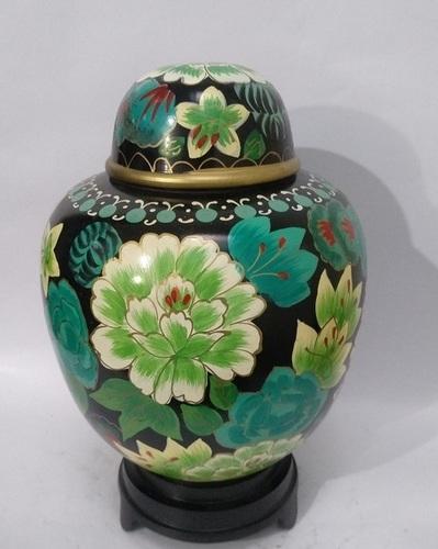 Flower Cloisonne Urn- Adult