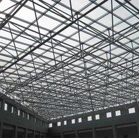 Steel space truss of factory building