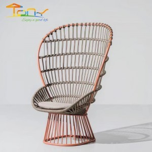 Hot Sale Quality Guarantee Garden Furniture Patio Alum Rope Chair