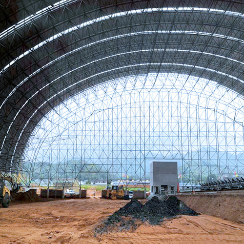Steel Grid Shed of Closed Sandstone Material yard