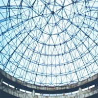 Roof steel grid structure
