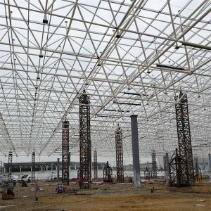 Flat steel structure grid frame