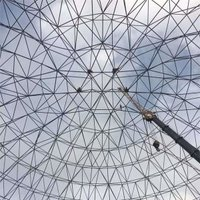 Spherical steel structure grid frame
