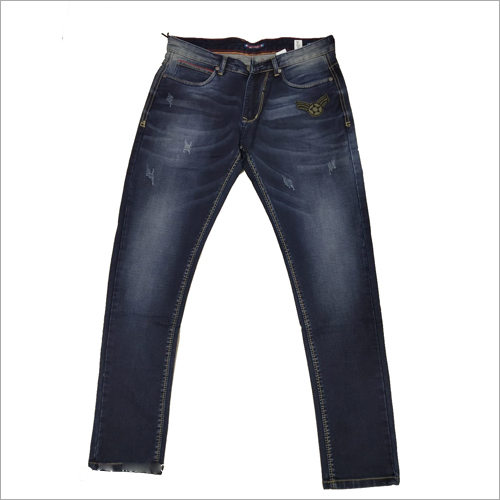 Mens Dark Blue Denim Jeans