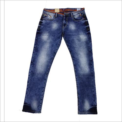 Mens Navy Blue Denim Jeans