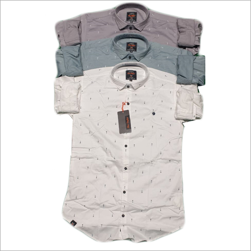 Available In Multicolor Mens Casual  Printed Linen Shirt