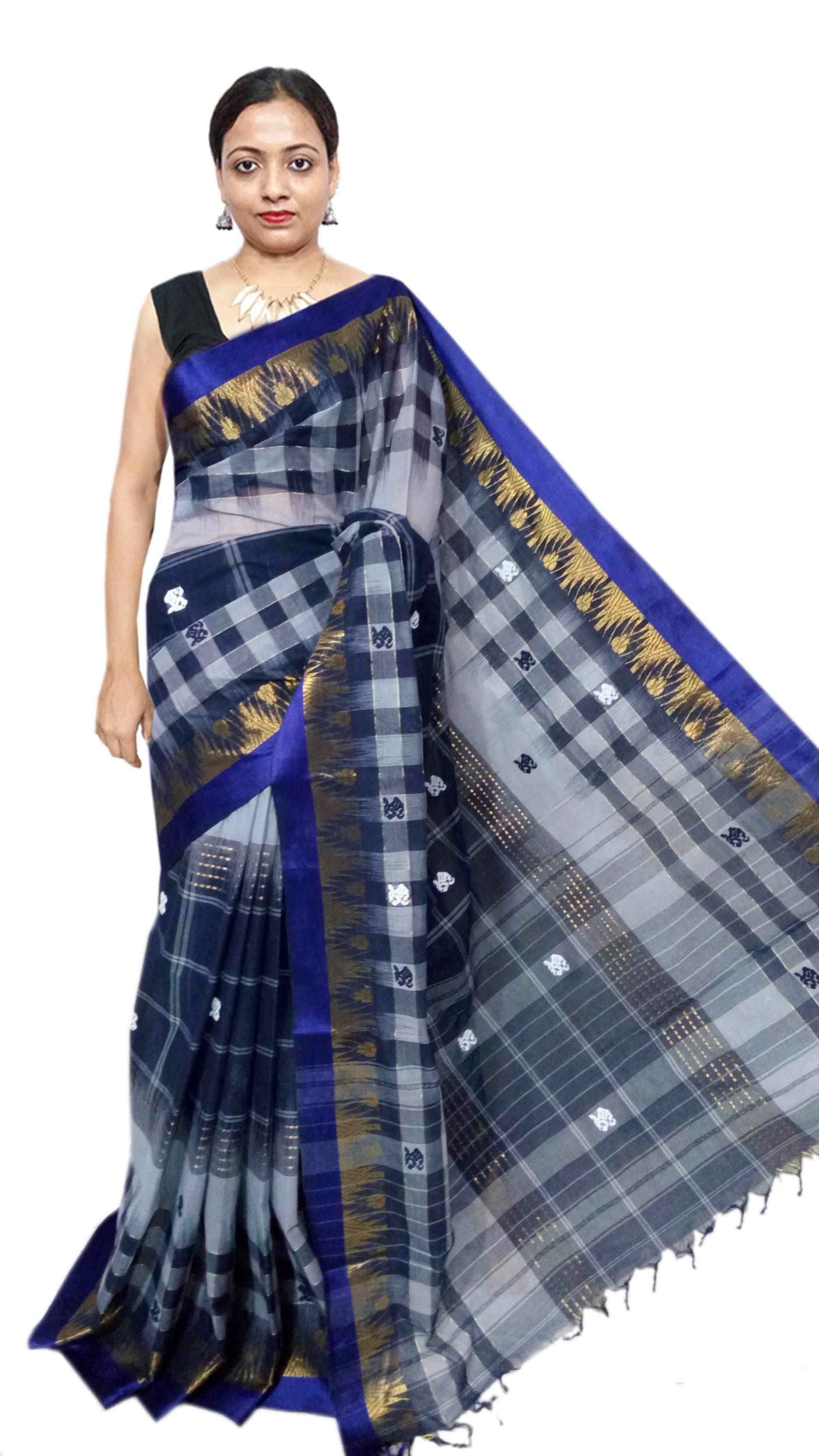 Dhonekhali Buti saree