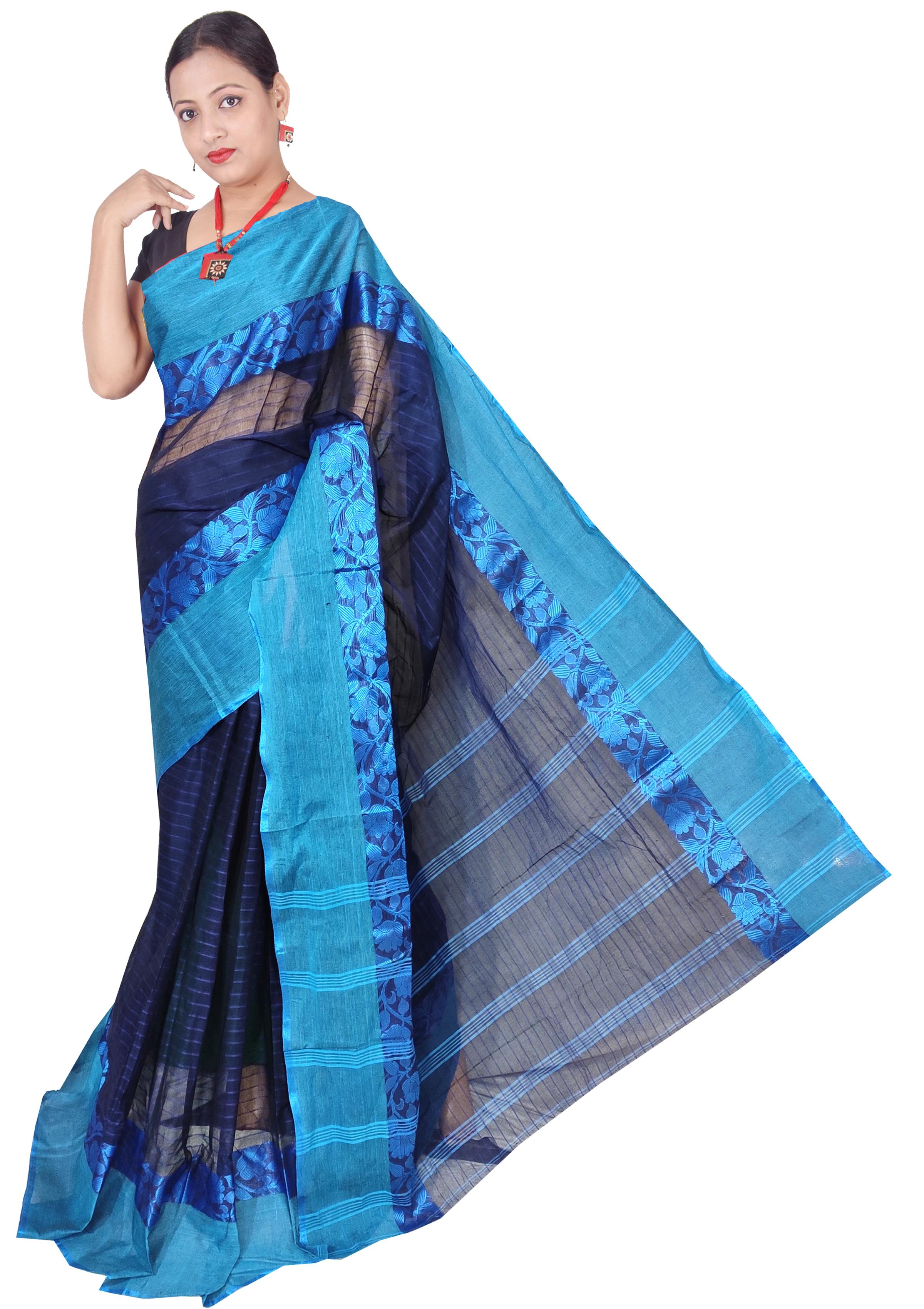 Bengal Cotton Tant Handloom Saree