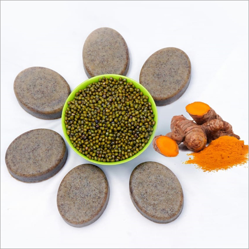Green Gram And Turmeric Herbal Soap