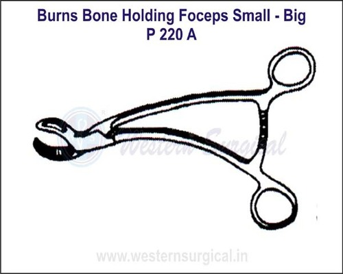 Burns Bone Holding Forceps Small - Big