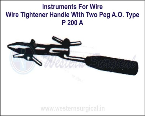 Wire Tightener Handle With Two PEG A.O.Type