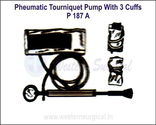 Pheumatic Touniquet Pump with 3 Cuffs