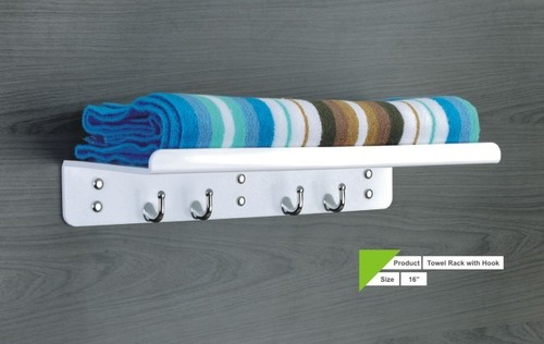 ACRYLIC TOWEL RACK WITH HOOK
