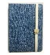 A5 Denim Cover With Strap And Metal Slider - 200 Pages