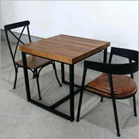 Modern Iron Base Dining Table And Chair