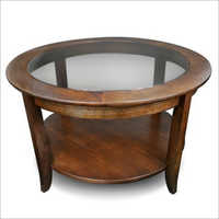Round Shape Storage Coffee Table
