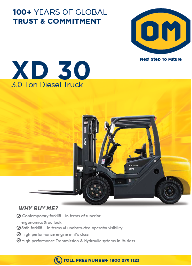 3 Ton Diesel Operated OM Forklift XD