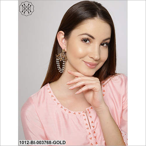 Ladies Studded Long Chain Earring