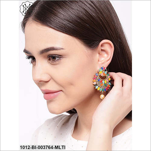Multi Color Crystal Earring