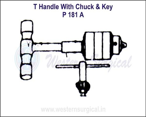 T Handle with Chuck & Key