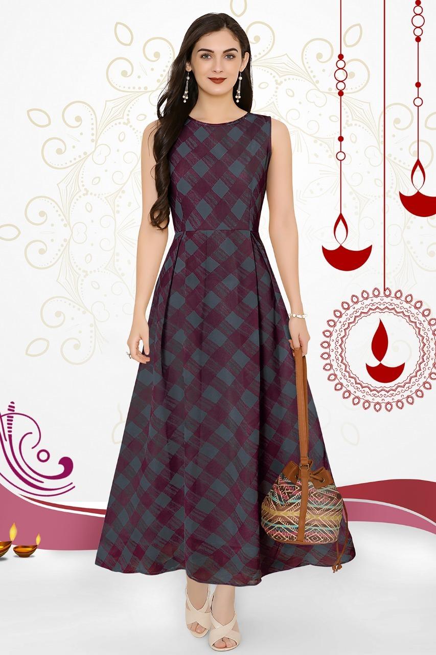 square designer gown