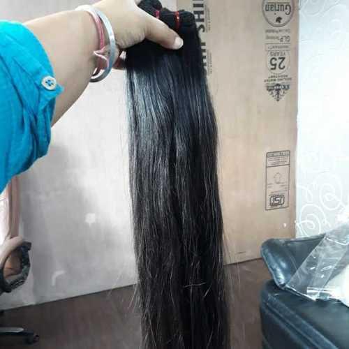 Straight raw hair