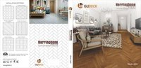 Herringbone laminate wooden flooring
