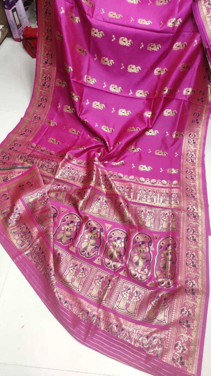 Silk  Baluchuri saree (not  pure)