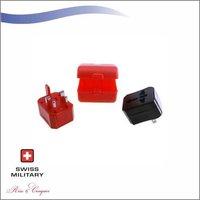 Swiss Military Travel Adapter Premium Abs Finish