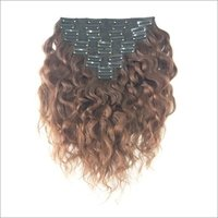 Raw single donor Temple curly clip in hair
