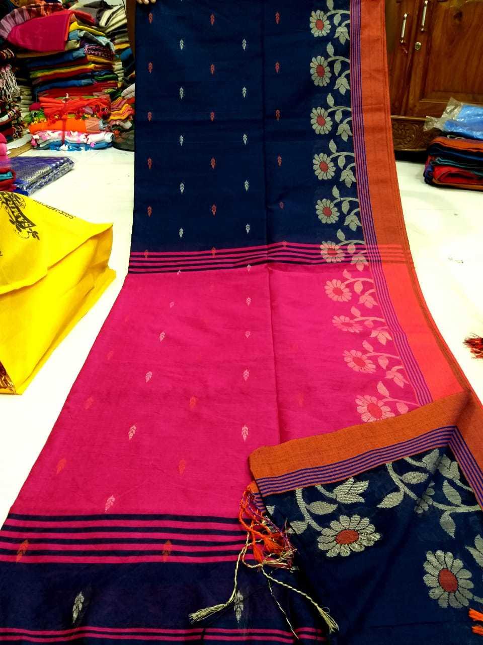 Border design cotton silk handloom saree