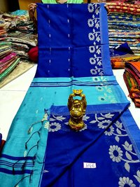 Border design cotton silk handloom saree
