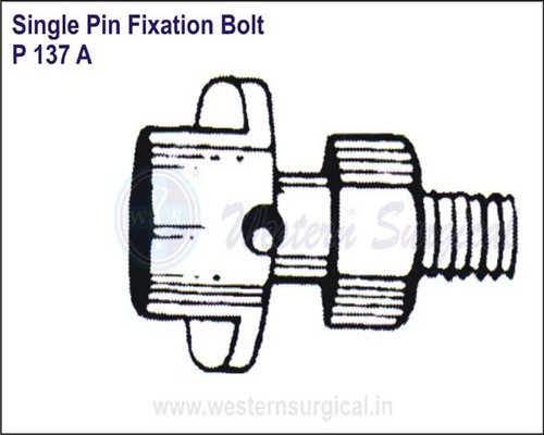Single Pin Fixation Bolt