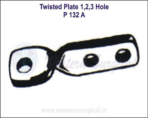 Twisted Plate 1, 2, 3 Hole