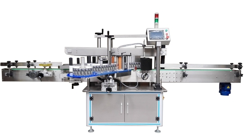 Automatic Flat Bottle Sticker Labelling Machine (Both Side)