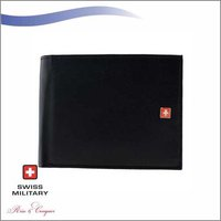 Swiss Military Mens Wallet Black (PW1)