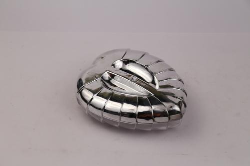 Leaf - Plastic Dryfruit Box (Silver)