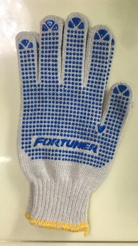 White Dotted Gloves