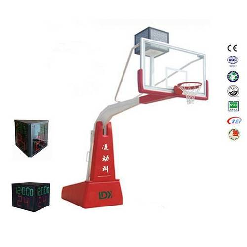 Electric Hydraulic Basketball Hoop Movable Basketball Stand