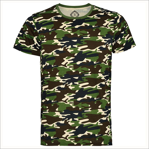 170 Gsm 100% Ring Spun Cotton Camo T-shirts