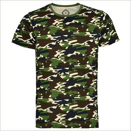 170 Gsm 100% Ring Spun Cotton Camo T-shirts
