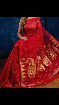 Full body jori work jamdani saree