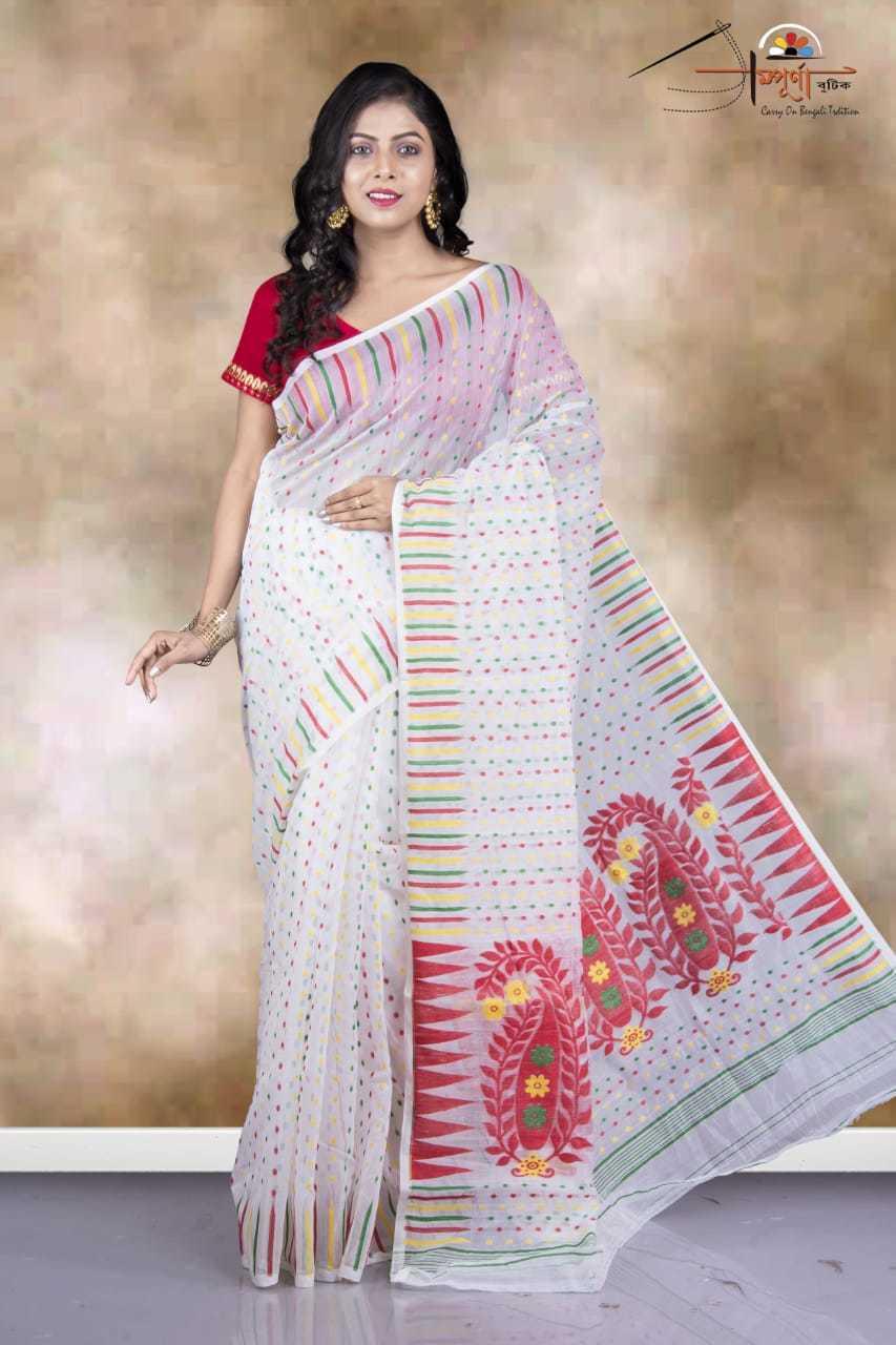 Full body jori work jamdani saree