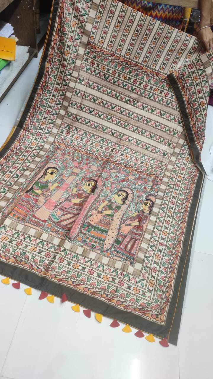 Dola silk printed saree