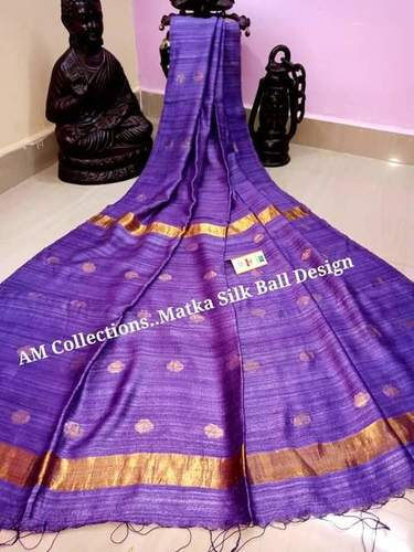 Pure Matka ball design jamdani saree