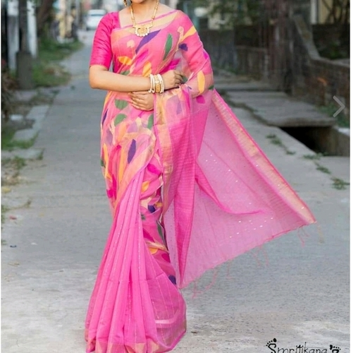 Resom full body sequin work jamdani saree